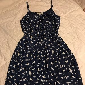 Navy blue dress with birds🕊